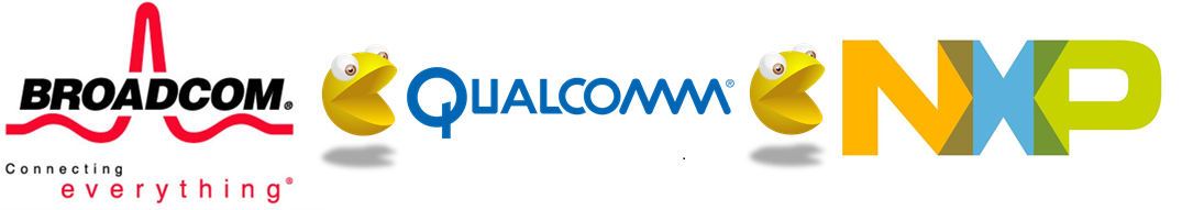Broadcom、Qualcomm、NXP買収