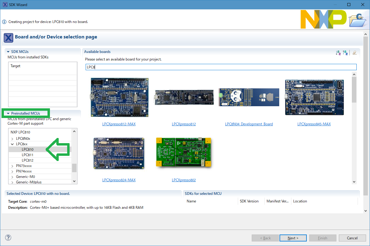 New Project by Preinstalled MCUs