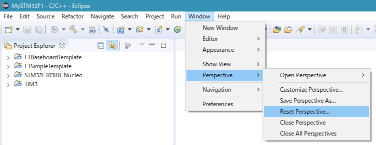 Reset Window Perspective