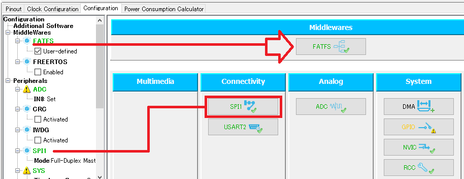 FATFS and SPI1 Functions Add by STM32CubeMX