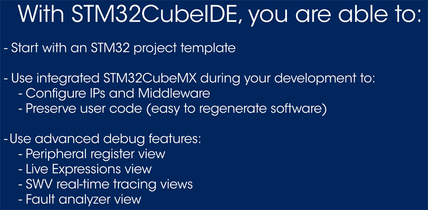 STMCubeIDE you are able to(出典:How to use STM32CubeIDE動画)
