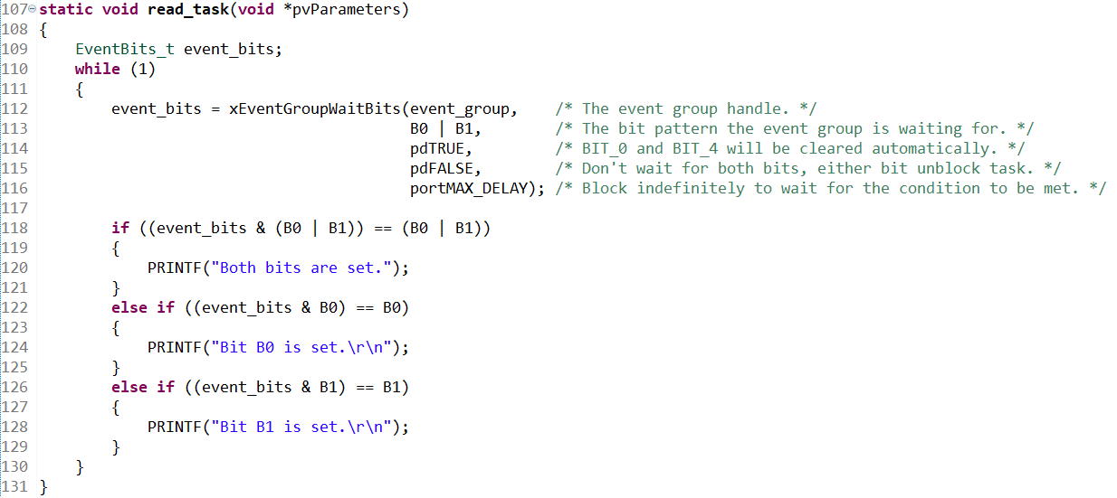 xEventGroupWaitBitsの例(出典:freertos_event.c)