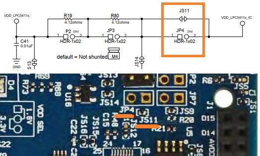 LPCXpresso54114消費電流計測回路