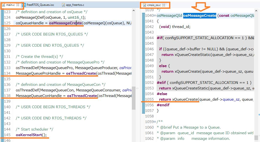 CMSIS-RTOS APIからFreeRTOS API変換