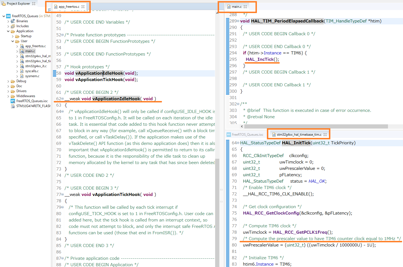 FreeRTOS_QueseのTIM6とHook関数