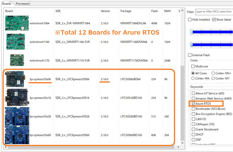 Azure RTOS Boards