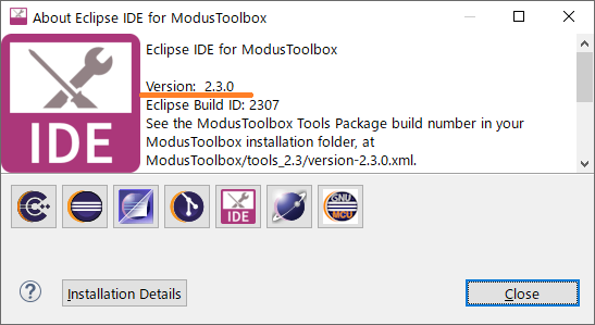 About Eclipse IDE for ModusToolbox